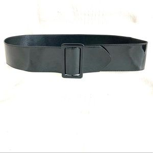 Accessories - Black Thick Patent Leather Belt